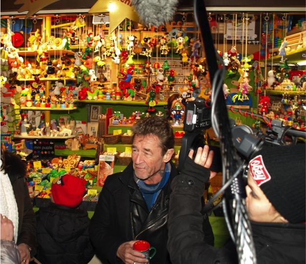 Prominenter Besuch auf dem Weihnachtsmarkt