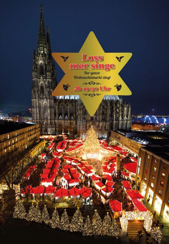 Heute Abend um 19.30 Uhr: Der ganze Weihnachtsmarkt singt